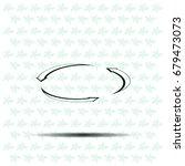 circular arrows vector icon | Shutterstock .eps vector #679473073