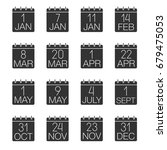 holidays calendar glyph icons