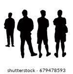 silhouettes people from the... | Shutterstock .eps vector #679478593