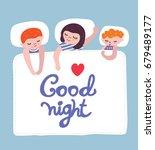 sleeping kids background for... | Shutterstock .eps vector #679489177