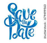 save the date postcard | Shutterstock . vector #679499563