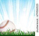 baseball background ... | Shutterstock .eps vector #679500523