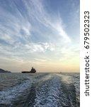 view of an offshore vessel in... | Shutterstock . vector #679502323