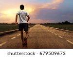 man running | Shutterstock . vector #679509673