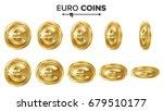 euro 3d gold coins vector set.... | Shutterstock .eps vector #679510177
