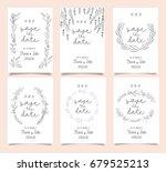 wedding invitation card... | Shutterstock .eps vector #679525213