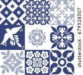 blue portuguese tiles pattern   ... | Shutterstock .eps vector #679528507