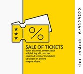 linear poster sale of tickets.... | Shutterstock .eps vector #679529023