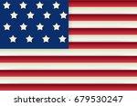 usa flag. vector image of usa... | Shutterstock .eps vector #679530247