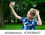 lovely young guy having a rest... | Shutterstock . vector #679530637