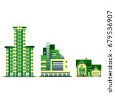the houses are in a line.  the...   Shutterstock .eps vector #679536907