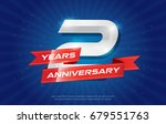 2 years anniversary background... | Shutterstock .eps vector #679551763