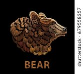 bear embroidery vector template ... | Shutterstock .eps vector #679558357