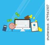 digital marketing. promotion ... | Shutterstock .eps vector #679561507