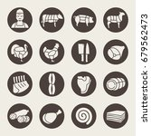 butchery icon set | Shutterstock .eps vector #679562473