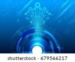 cyber security  vector... | Shutterstock .eps vector #679566217