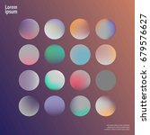 holographic circle set.... | Shutterstock .eps vector #679576627