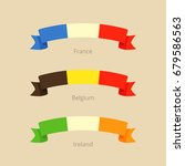ribbon with flag of france ... | Shutterstock .eps vector #679586563