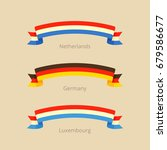 ribbon with flag of netherlands ... | Shutterstock .eps vector #679586677