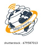 internet concept in the form go ...   Shutterstock .eps vector #679587013