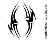 tattoo tribal vector design.... | Shutterstock .eps vector #679587823