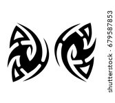 tribal tattoo art designs.... | Shutterstock .eps vector #679587853