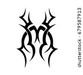 tribal tattoo art designs.... | Shutterstock .eps vector #679587913