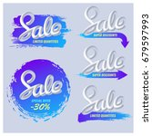 a set of banners sale in a... | Shutterstock .eps vector #679597993