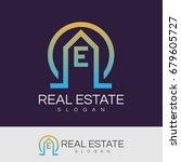 real estate initial letter e... | Shutterstock .eps vector #679605727