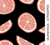 cute color grapefruits. pattern ...   Shutterstock .eps vector #679606903