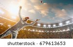 cricket bowler in action on a... | Shutterstock . vector #679613653