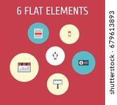 flat icons advertising  man... | Shutterstock .eps vector #679613893