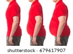 before and after weight loss | Shutterstock . vector #679617907