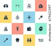 vector illustration set of... | Shutterstock .eps vector #679621597