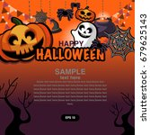 halloween vector backgrounds | Shutterstock .eps vector #679625143