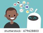data transfer conceptual... | Shutterstock .eps vector #679628803