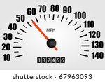 white speedometer illustration | Shutterstock .eps vector #67963093