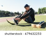 disabled man athlete ready for... | Shutterstock . vector #679632253