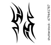tribal tattoo art designs.... | Shutterstock .eps vector #679641787