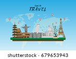 travel and tourism . road trip .... | Shutterstock .eps vector #679653943