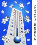 thermometer   air temperature... | Shutterstock .eps vector #679662793