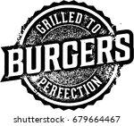 vintage burgers grill menu... | Shutterstock .eps vector #679664467
