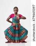 indian dancer posing with... | Shutterstock . vector #679665397
