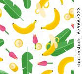beautiful tropical pattern with ... | Shutterstock .eps vector #679667323