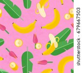 beautiful tropical pattern with ... | Shutterstock .eps vector #679667503