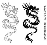simple asian dragon | Shutterstock . vector #67966996