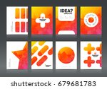 abstract business brochure... | Shutterstock .eps vector #679681783