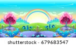 landscape of dreams with... | Shutterstock .eps vector #679683547