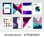 abstract business brochure... | Shutterstock .eps vector #679684003