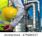 double exposure engineers... | Shutterstock . vector #679686517